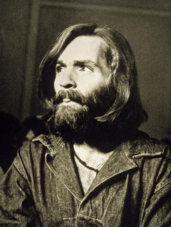 Serial Killer Charles Manson on December 3, 1969 During His Arrest in Sharon Tate Affair--Photo