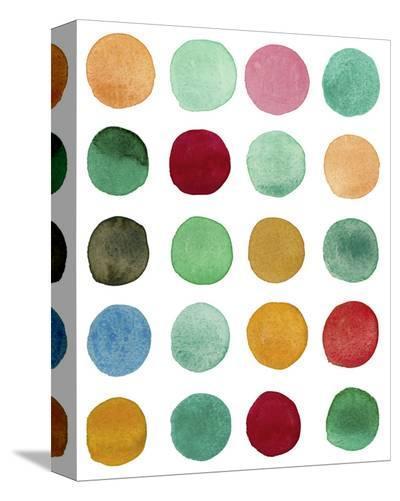 Series Colored Dots No. I-Louise van Terheijden-Stretched Canvas Print