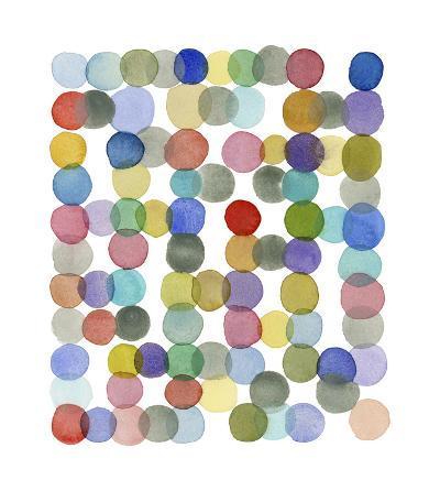 Series Colored Dots No. II-Louise van Terheijden-Giclee Print