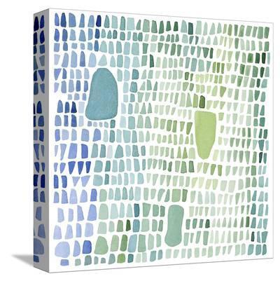 Series Sea Glass No. 1-Louise van Terheijden-Stretched Canvas Print