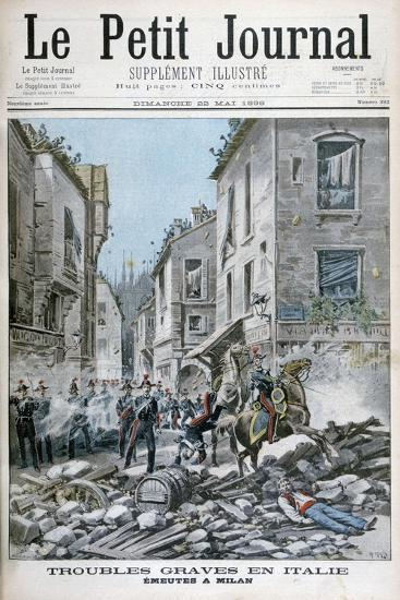 Serious Disorders and Rioting in Milan, Italy, 1898-Henri Meyer-Giclee Print