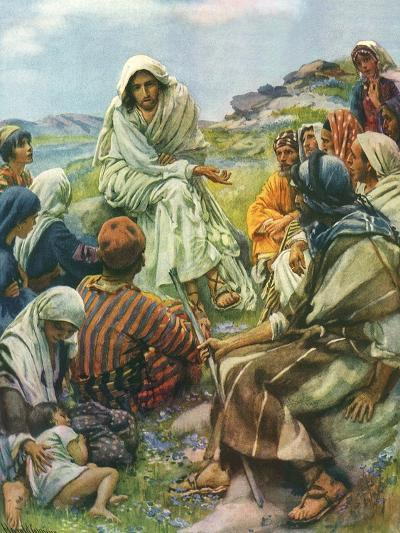 Sermon on the Mount, 1922-Harold Copping-Giclee Print
