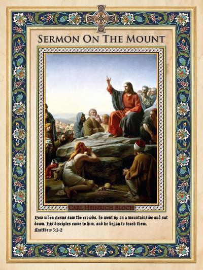 Sermon on the Mount-Carl Bloch-Giclee Print