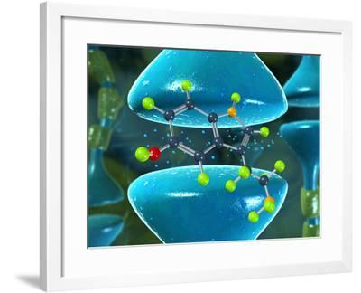 Serotonin Neurotransmitter Molecule-David Mack-Framed Photographic Print