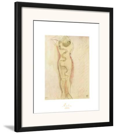 Serpent Et Eve-Auguste Rodin-Framed Art Print
