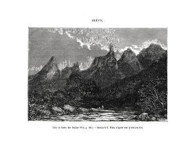 Serra Dos Órgãos, Brazil, 19th Century-Edouard Riou-Giclee Print