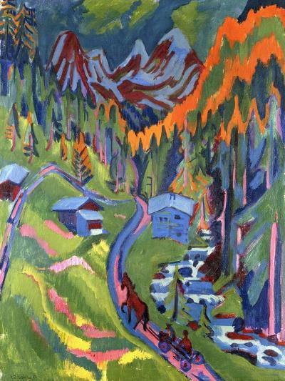 Sertig Path in Summer-Ernst Ludwig Kirchner-Giclee Print