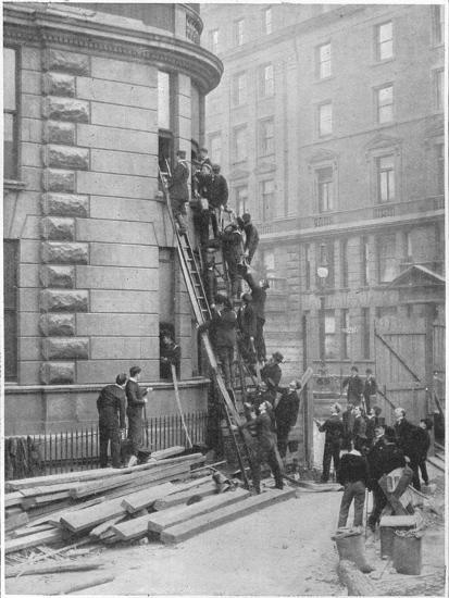 Servants' fire brigade at the Hotel Cecil, London, c1903 (1903)-Unknown-Photographic Print
