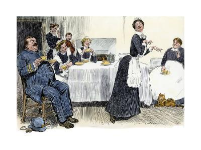 Servants Imitating the Lady of the House, circa 1900--Giclee Print