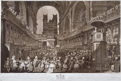 Service of Thanksgiving in St Paul's Cathedral, City of London, 1789-Robert Pollard-Giclee Print