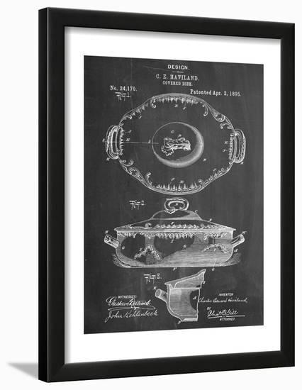 Serving Dish Patent--Framed Art Print