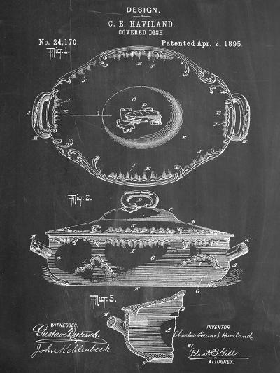 Serving Dish Patent--Art Print