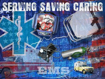 Serving Saving Caring-Jim Baldwin-Art Print