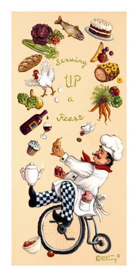 Serving Up A Feast-Janet Kruskamp-Art Print