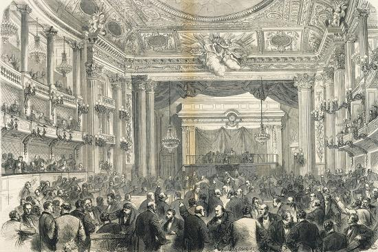 'Session of General Assembly in Versailles, March 25, 1871 ...