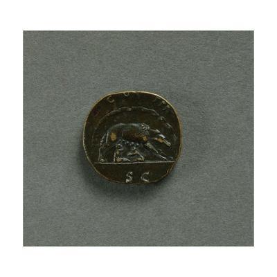 Sestertius of Emperor Antoninus Pius--Giclee Print