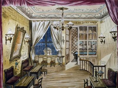 Set Design for Act I of La Boheme, Opera by Ruggero Leoncavallo--Giclee Print