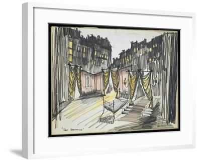 Set Design for Brendan Behan's the Hostage, UK, 1959--Framed Giclee Print