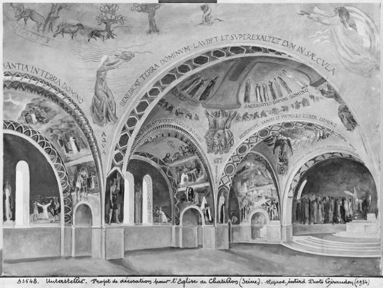 Set Design for the Church of Chatillon-Nicolas Untersteller-Giclee Print