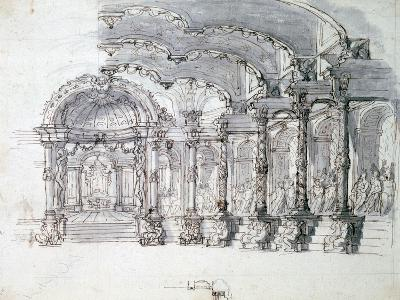 Set Design for the Opera 'Proserpine, C1680-Jean Berain-Giclee Print