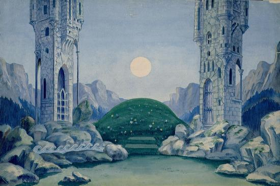 Set Design for the Premiere of 'The Wooden Prince'--Giclee Print