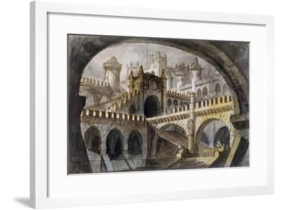 Set Design for Third Scene of Gabriella Di Vergy, Opera by Gaetano Donizetti--Framed Giclee Print