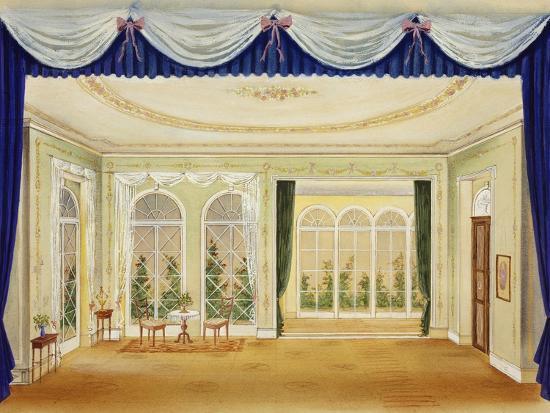 Set Design for Two Widows, Opera-Bedrich Smetana-Giclee Print