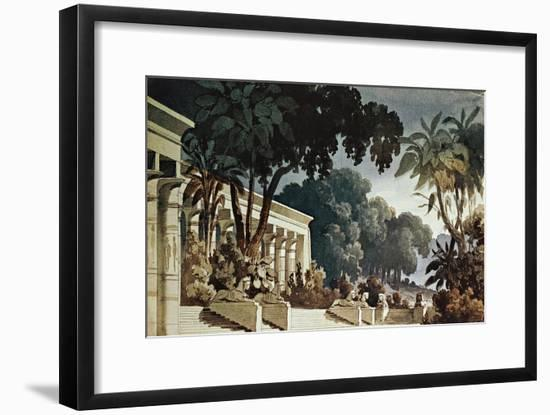 Set Design Sketch by Filippo Peroni Depicting the Hanging Gardens for the Third Act-Giuseppe Verdi-Framed Giclee Print