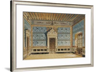 Set Design Sketch for Don Giovanni or the Rake Punish'D, Consortium, Interior of Court--Framed Giclee Print