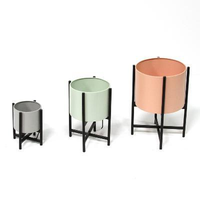 Set of 3 Tricolor Modern Plant Stands--Home Accessories