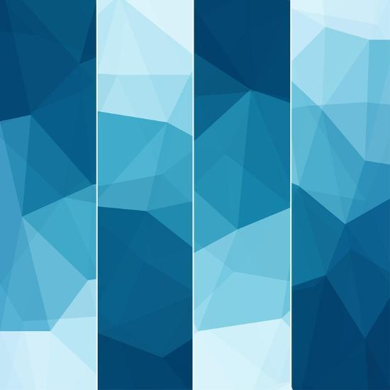 Set of Abstract Blue Background-epic44-Art Print