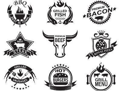 Set of Elements for a Restaurant Designs-Alexkava-Art Print