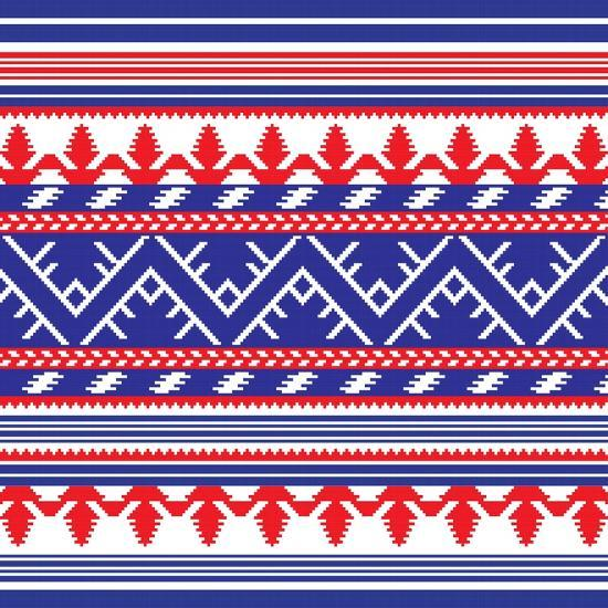 Set of Ethnic Ornament Pattern in Different Colors. Vector Illustration. from Collection of Balto-S-Zinaida Zaiko-Art Print