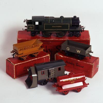 Set of Hornby Toy Trains and Rolling Stock--Photographic Print