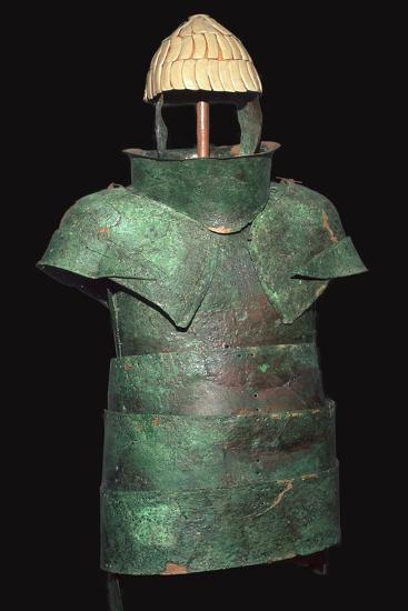 Set of Mycenaean armour with cuirrass and helm, c.16th century BC. Artist: Unknown-Unknown-Giclee Print