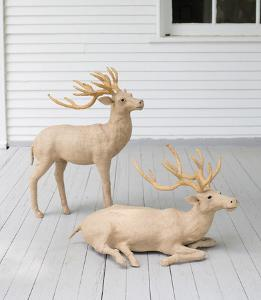 Set of Two Stag - Jute