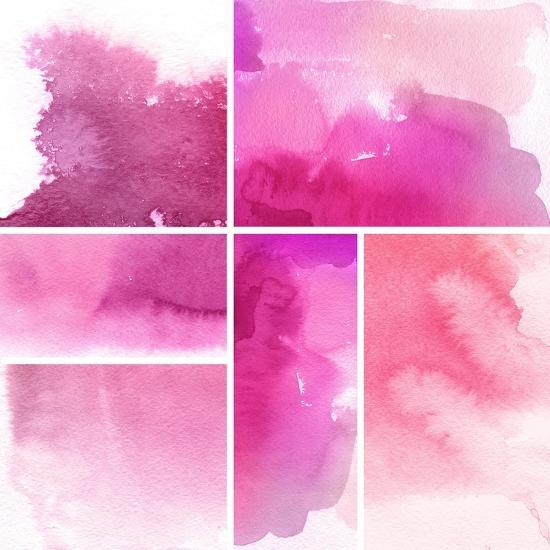 Set Of Watercolor Abstract Hand Painted Backgrounds-katritch-Art Print