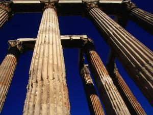 Corinthian Columns of the Temple of Olympian Zeus in the Olympieion, Athens, Attica, Greece by Setchfield Neil