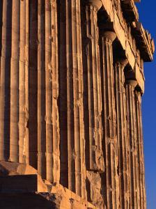 Doric Columns Line the Facade of the Parthenon at the Acropolis, Athens, Attica, Greece by Setchfield Neil