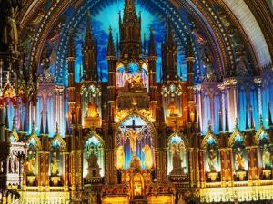 Interior of the Notre Dame Basilica of Vieux Montreal, Montreal, Quebec, Canada by Setchfield Neil