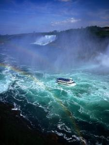 Maid of the Mist Tour Boat in Turbulent Water, Niagara Falls, Ontario, Canada by Setchfield Neil