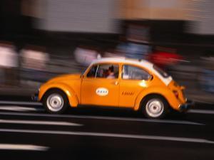 Speeding Taxi on Paseo De La Reforma, Mexico City, Mexico by Setchfield Neil