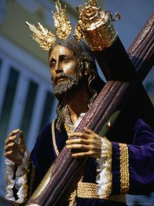 Statue During Holy Week Festival, Malaga, Spain by Setchfield Neil