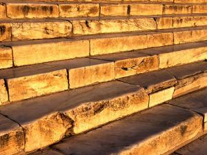Steps That Lead to the Parthenon at the Acropolis, Athens, Attica, Greece by Setchfield Neil