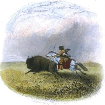 Buffalo Hunt, Engraved by Tilman and Sons, 1853 by Seth Eastman