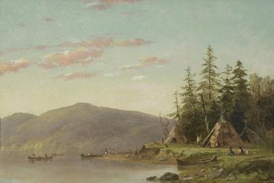 Chippewa Encampment on the Upper Mississippi, C.1845