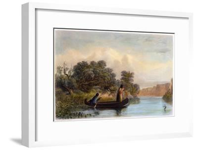 Spearing Fish from a Canoe, 1853