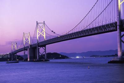 Seto Ohashi Bridge at Dusk-Design Pics Inc-Photographic Print