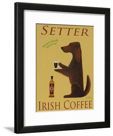 Setter Irish Coffee-Ken Bailey-Framed Collectable Print