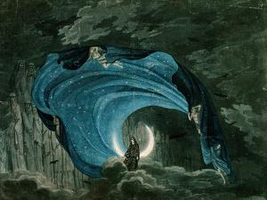 Setting for the Appearance of Astrofiammante, Queen of the Night, from Mozart's 'Magic Flute',…